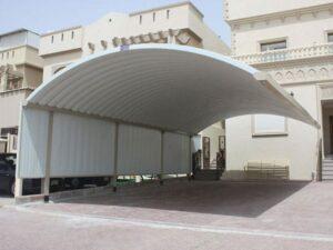 تركيب مظلات في محافظة الفروانية والمنطقة الرابعة